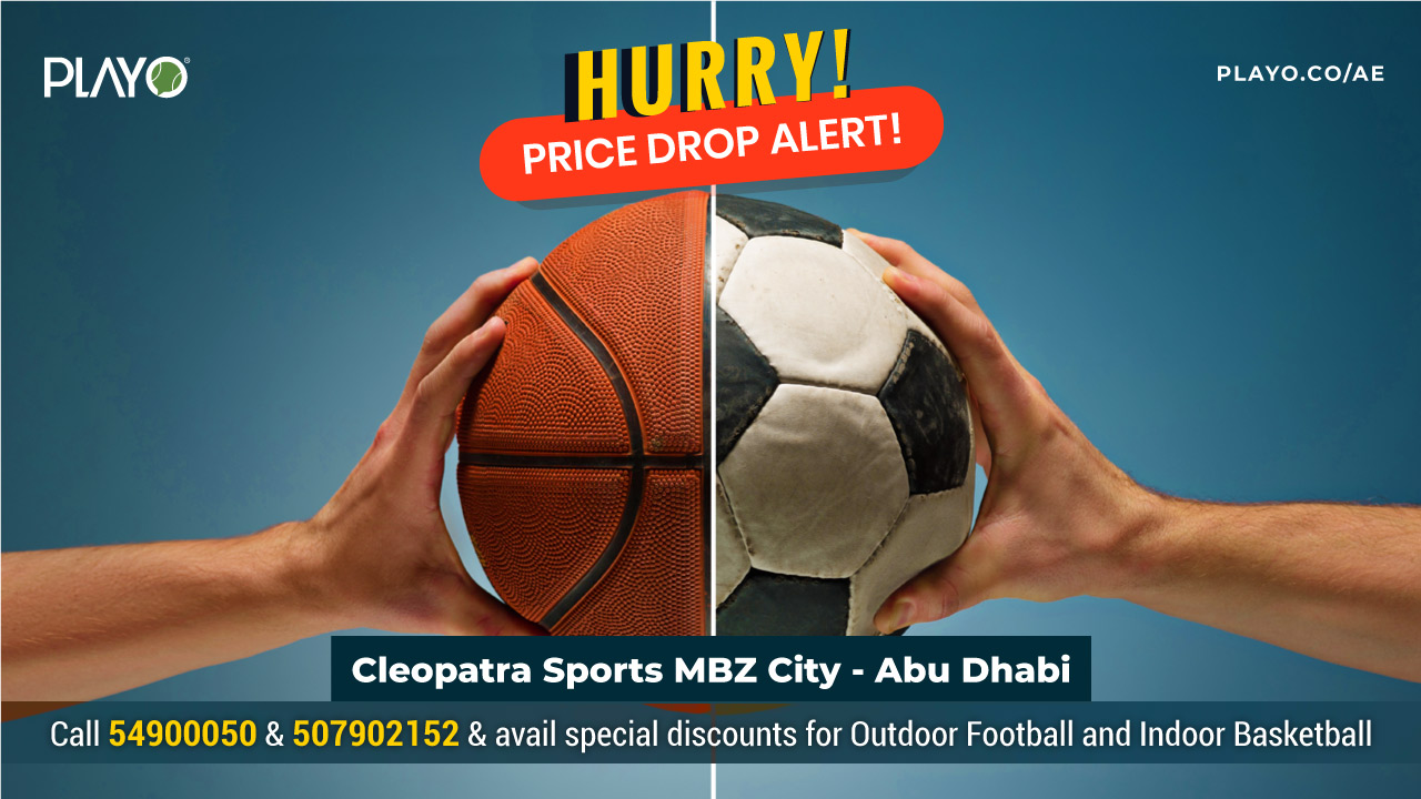Outdoor football & Indoor Basketball - Special Price offer, Abu Dhabi
