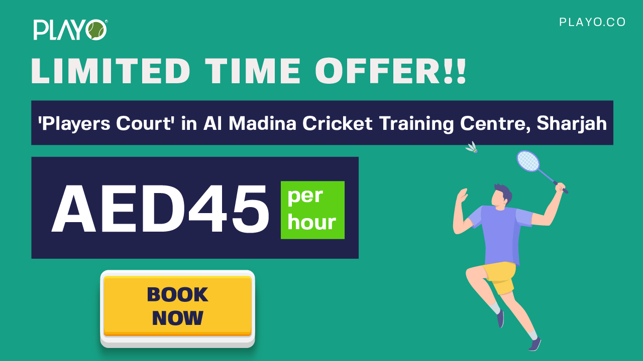 Players Court: Introductory Offer Book Badminton Court @45 AED per Hour