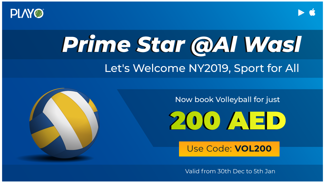 Prime Star Al Wasl New Year Volleyball Court Booking Offer