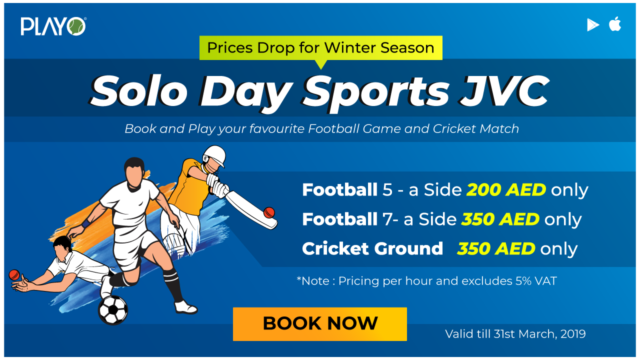 Solo Day Sports JVC 2018 - Winter Price Drop Offer Football & Cricket